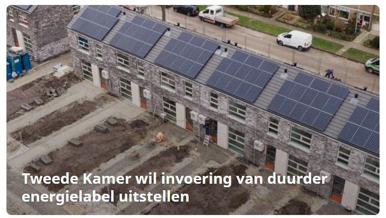 Tweede kamer wil uitstel nieuwe energielabel woningen